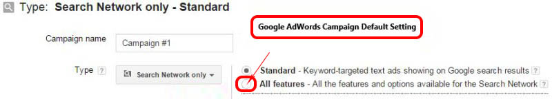 Google AdWords Campaign Settings 1